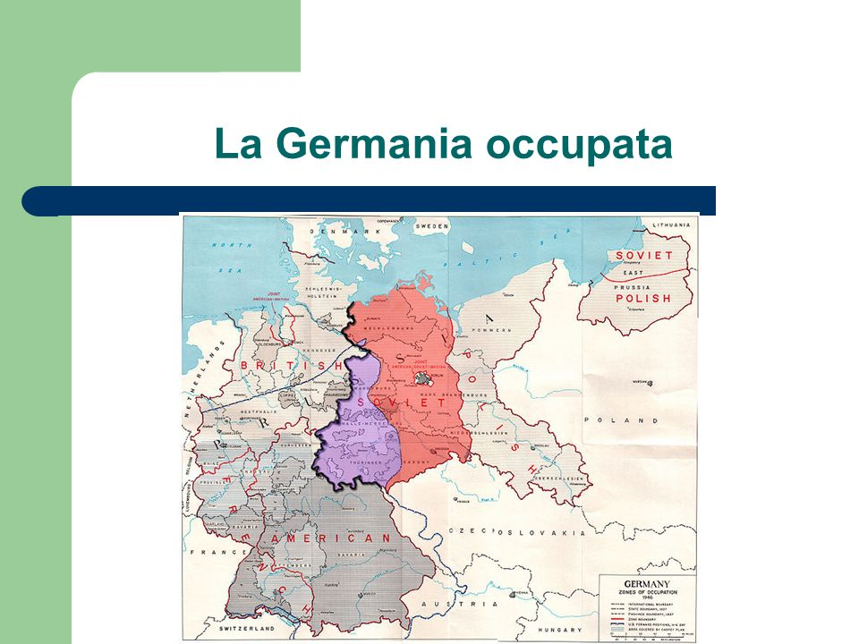 La Germania occupata