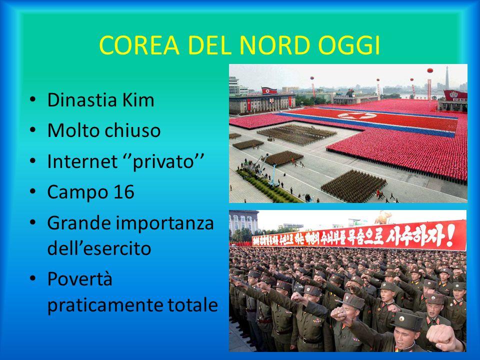 COREA DEL NORD OGGI Dinastia Kim Molto chiuso Internet ''privato''