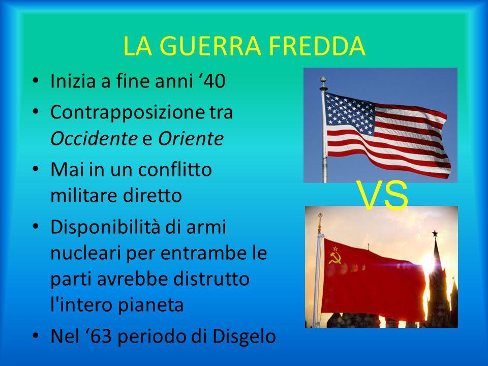 VS LA GUERRA FREDDA Inizia a fine anni '40