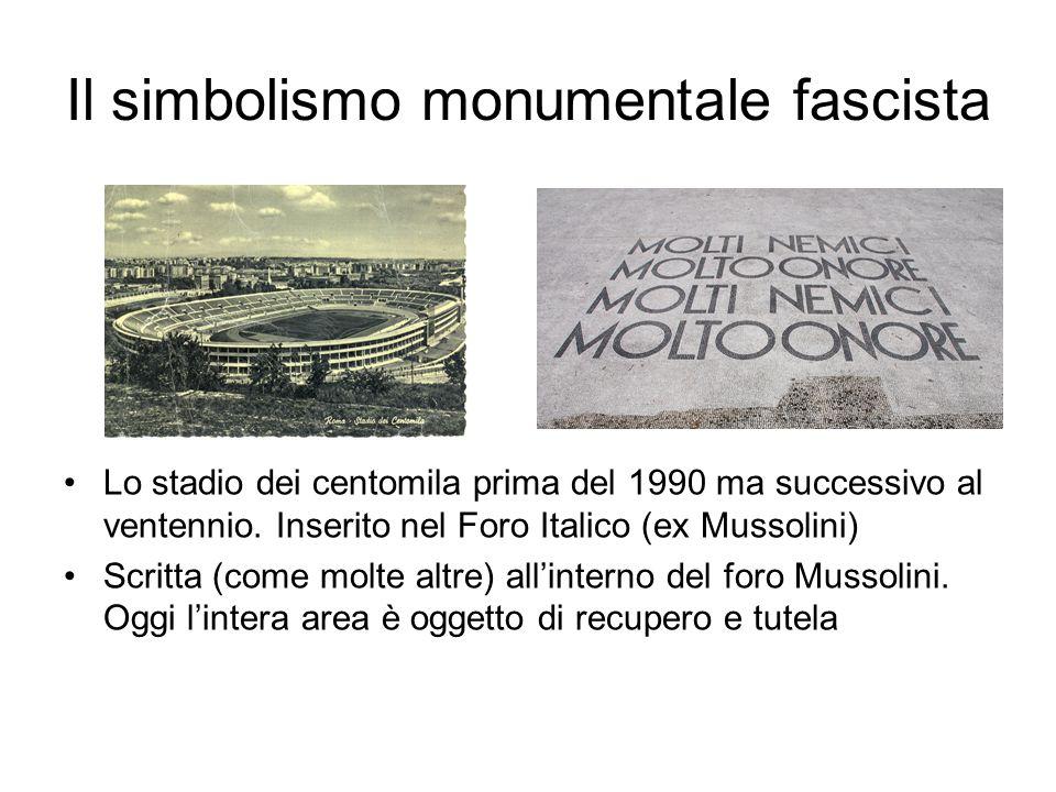 Il simbolismo monumentale fascista