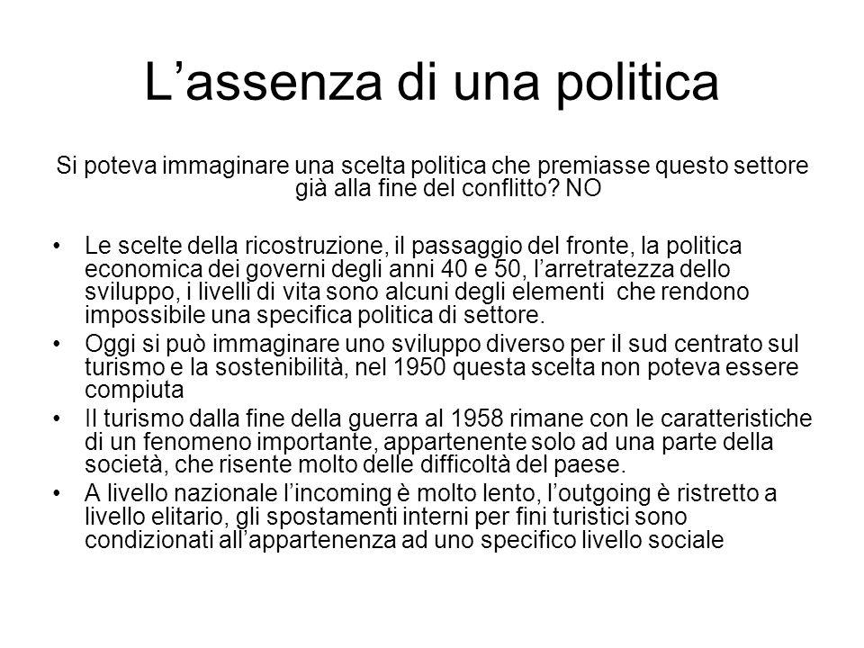 L'assenza di una politica