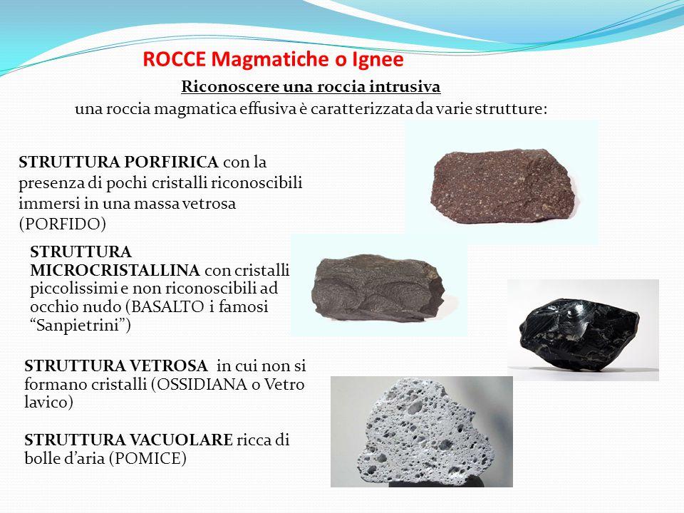 ROCCE Magmatiche o Ignee