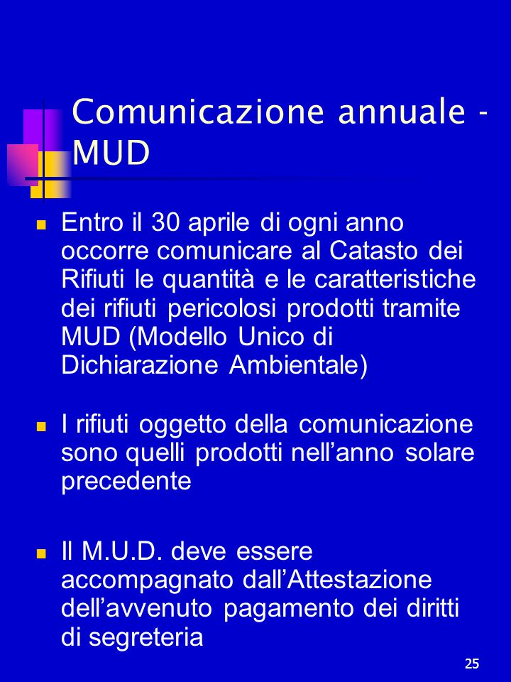 Comunicazione annuale - MUD