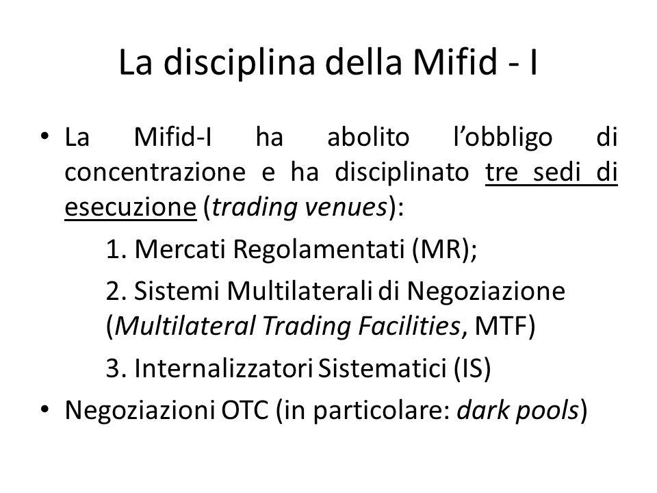 La disciplina della Mifid - I