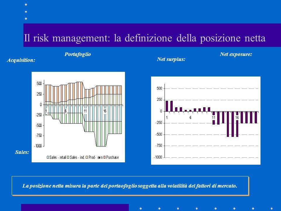 Il risk management: la definizione della posizione netta