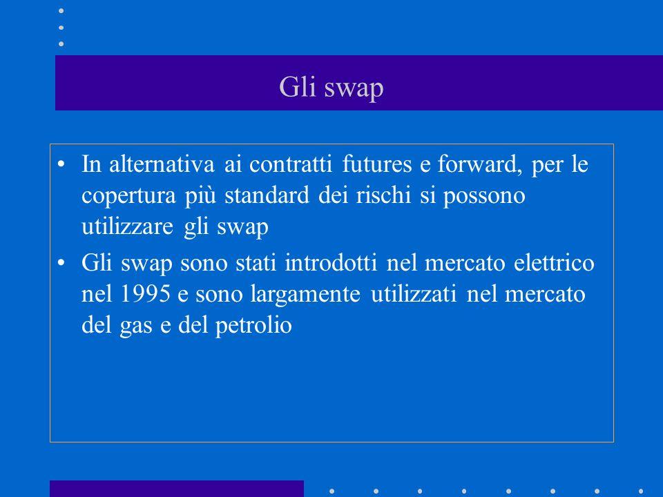 Gli swap In alternativa ai contratti futures e forward, per le copertura più standard dei rischi si possono utilizzare gli swap.