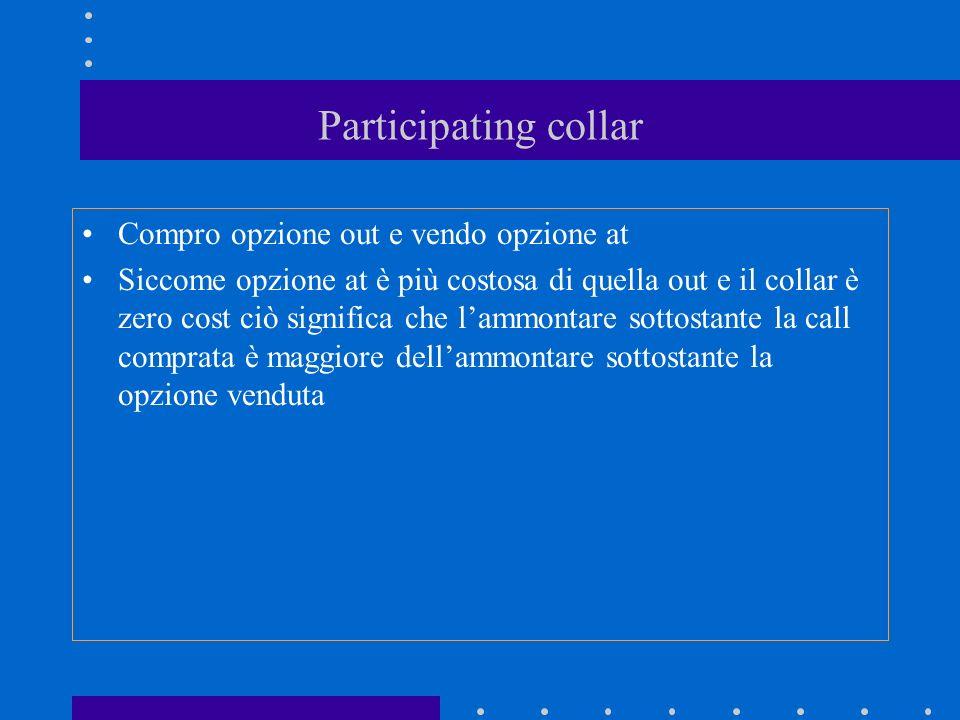 Participating collar Compro opzione out e vendo opzione at