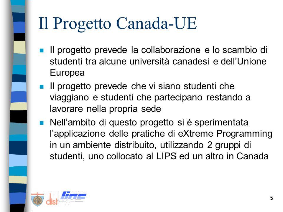 Il Progetto Canada-UEIl progetto prevede la collaborazione e lo scambio di studenti tra alcune università canadesi e dell'Unione Europea.