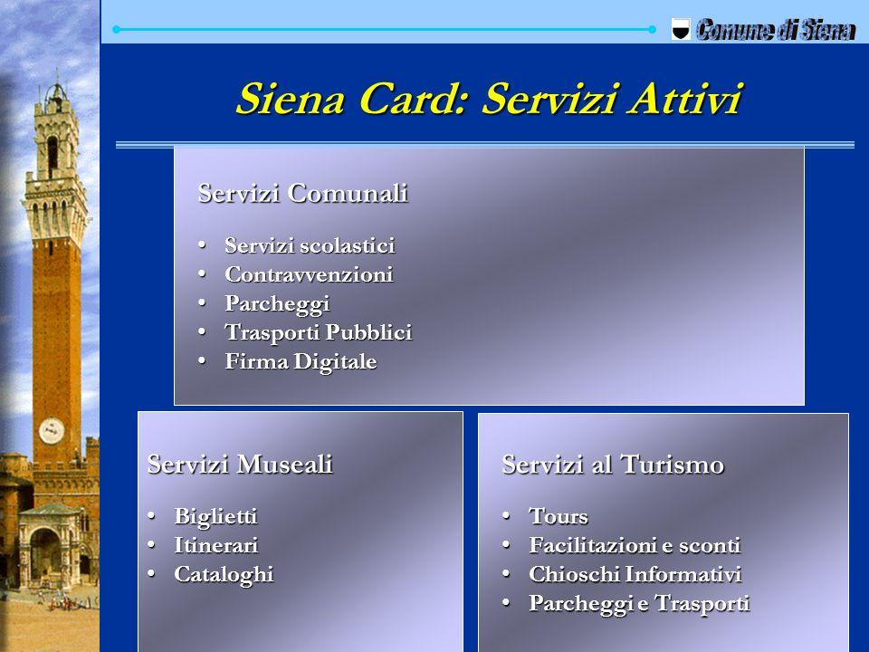 Siena Card: Servizi Attivi