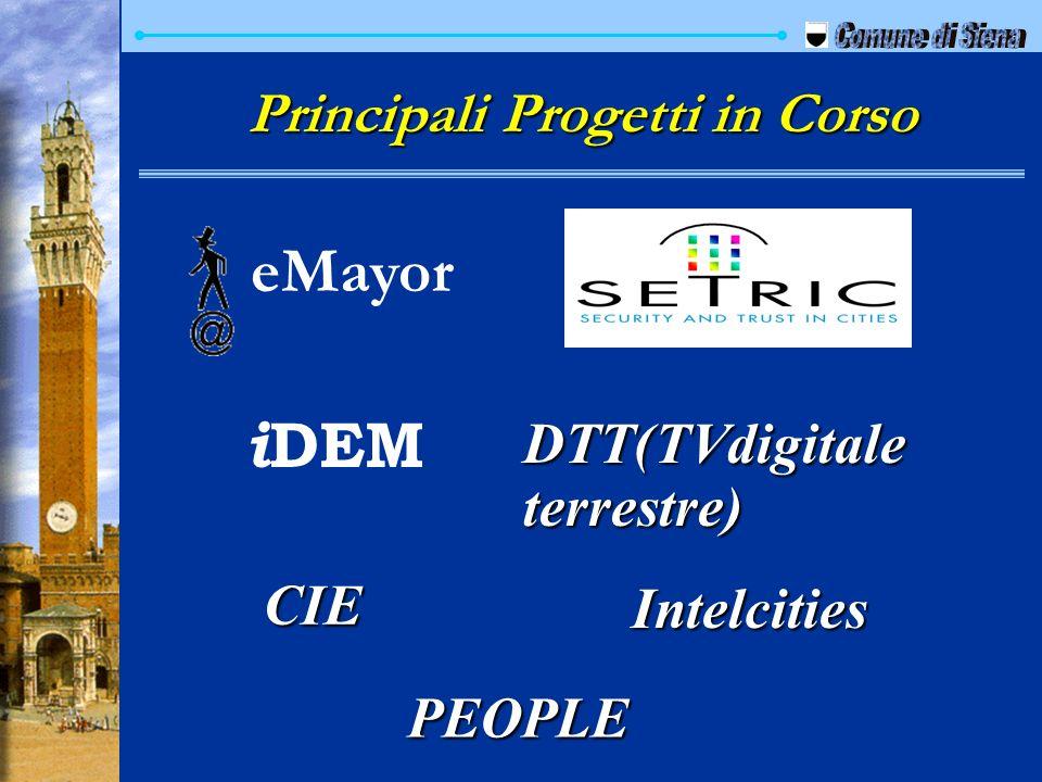 Principali Progetti in Corso