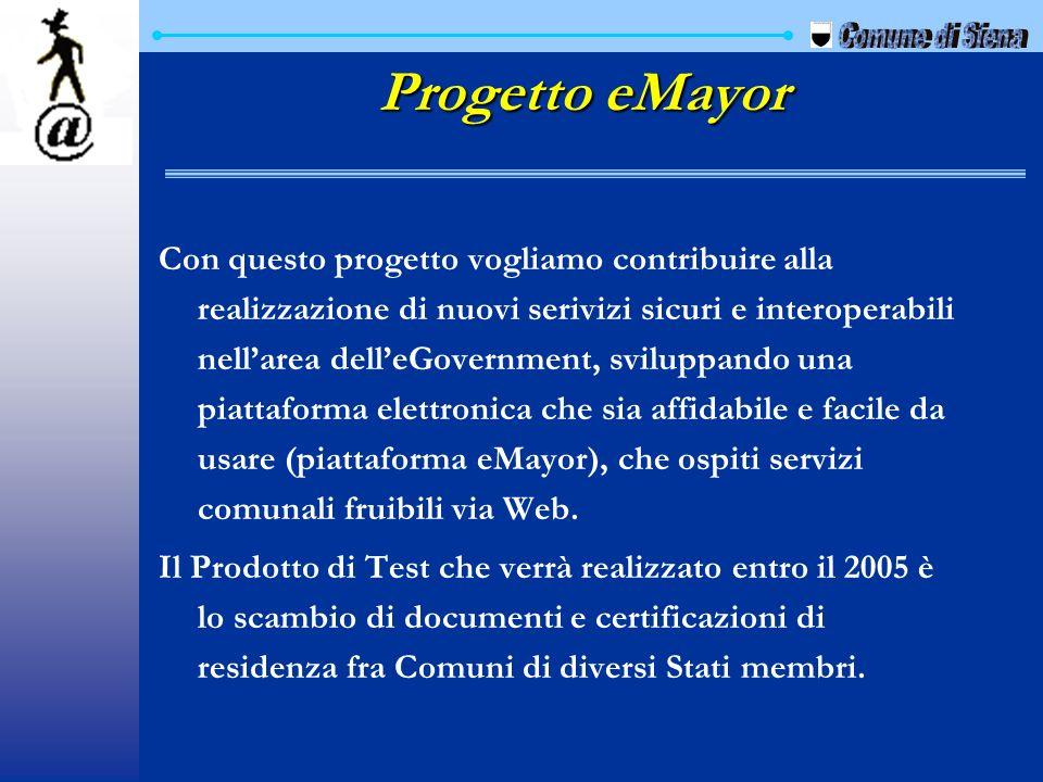 Progetto eMayor Comune di Siena