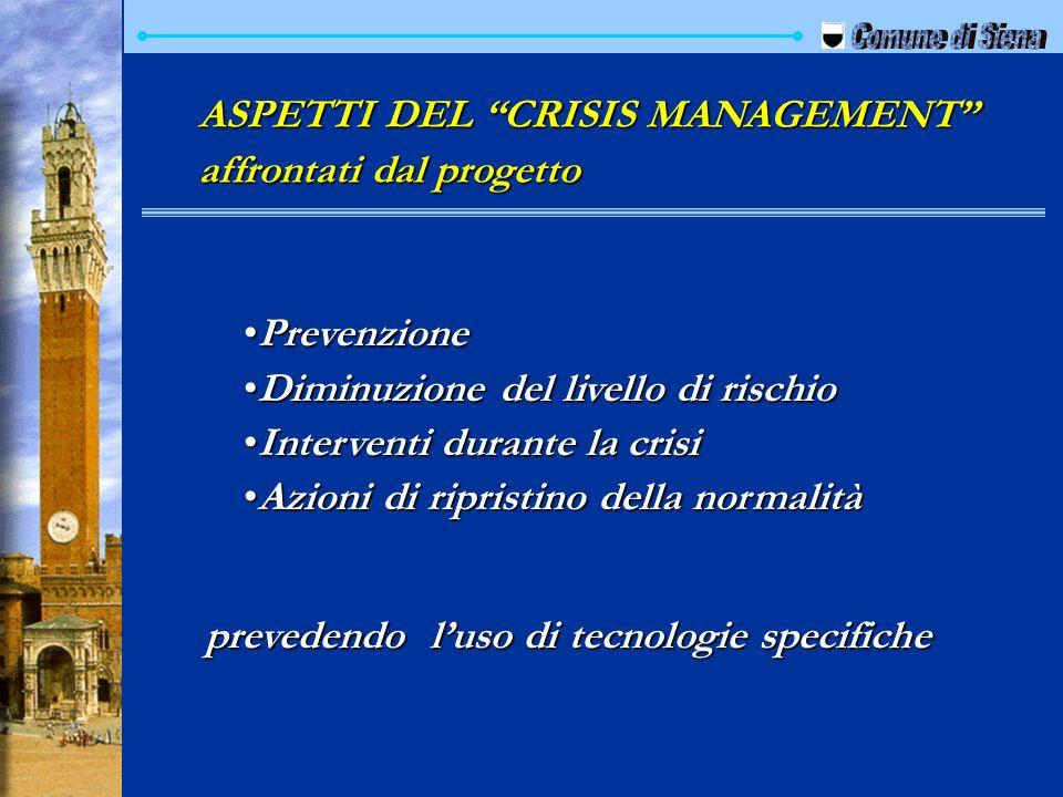 Comune di Siena ASPETTI DEL CRISIS MANAGEMENT