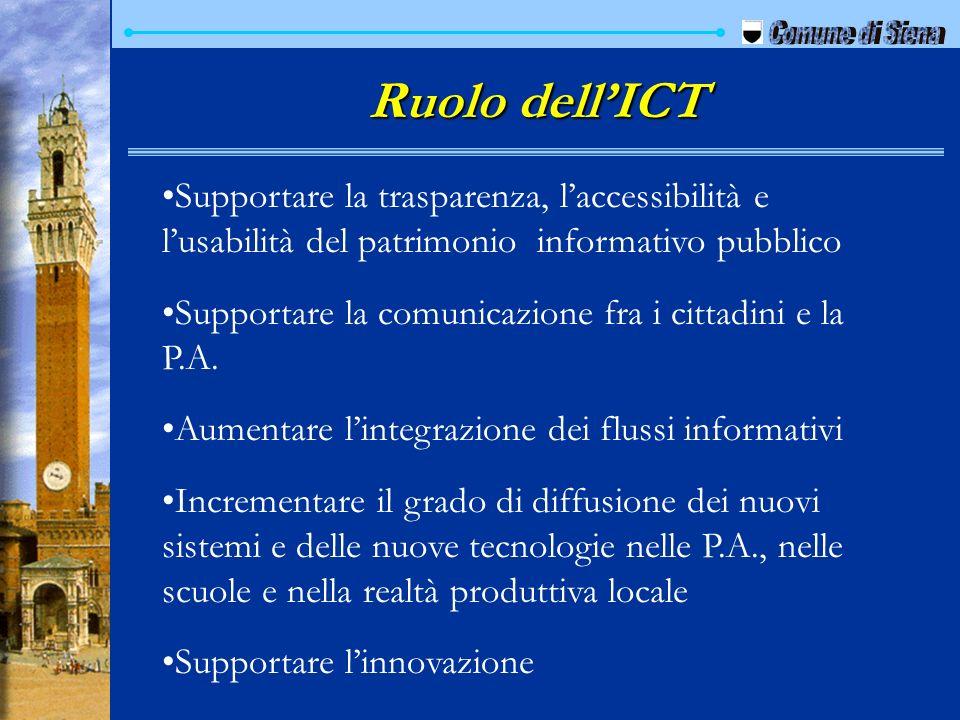 Ruolo dell'ICT Comune di Siena