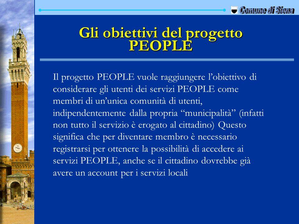 Gli obiettivi del progetto PEOPLE