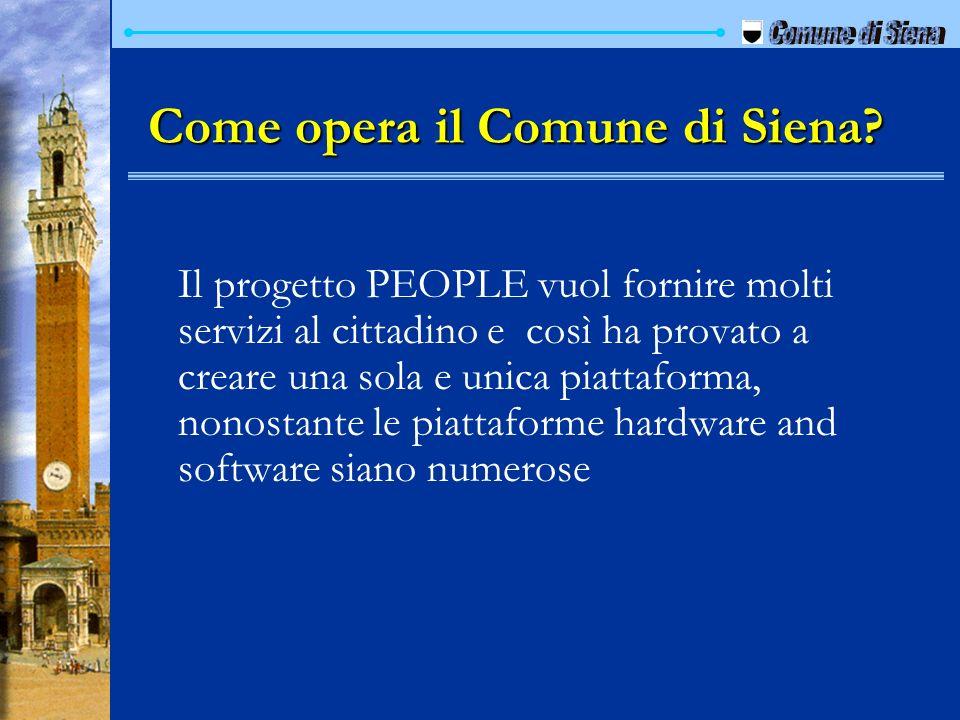 Come opera il Comune di Siena