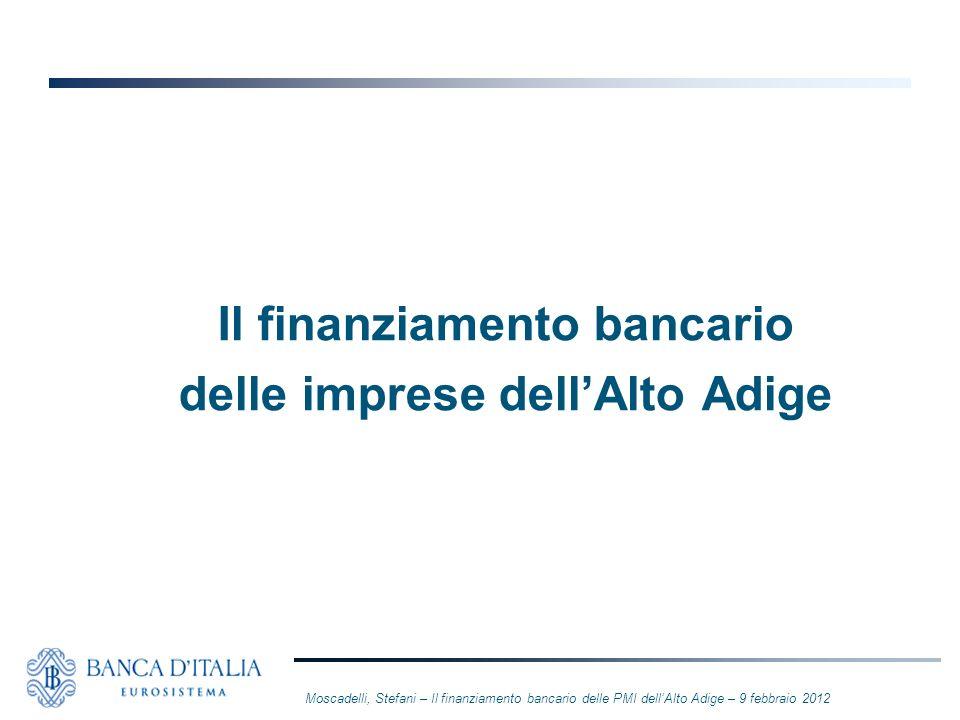 Il finanziamento bancario delle imprese dell'Alto Adige