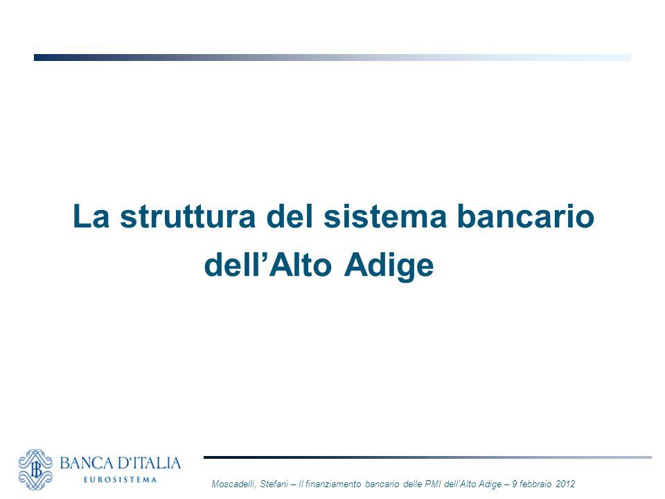 La struttura del sistema bancario