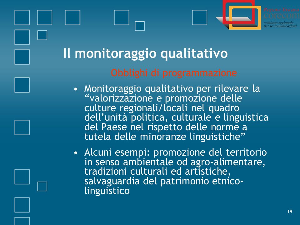 Il monitoraggio qualitativo
