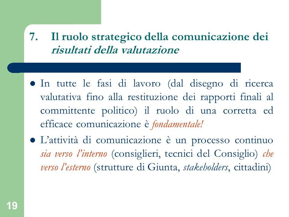 Il ruolo strategico della comunicazione dei risultati della valutazione