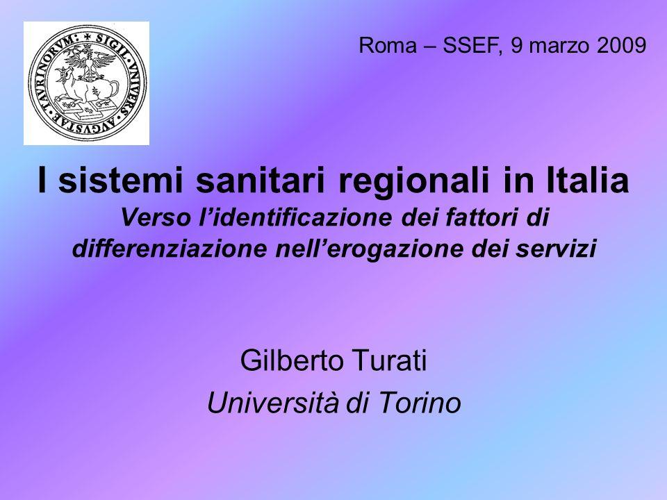 Gilberto Turati Università di Torino
