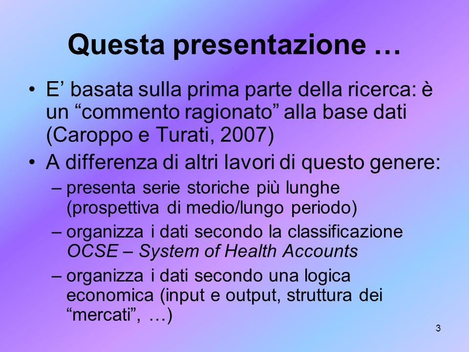 Questa presentazione …