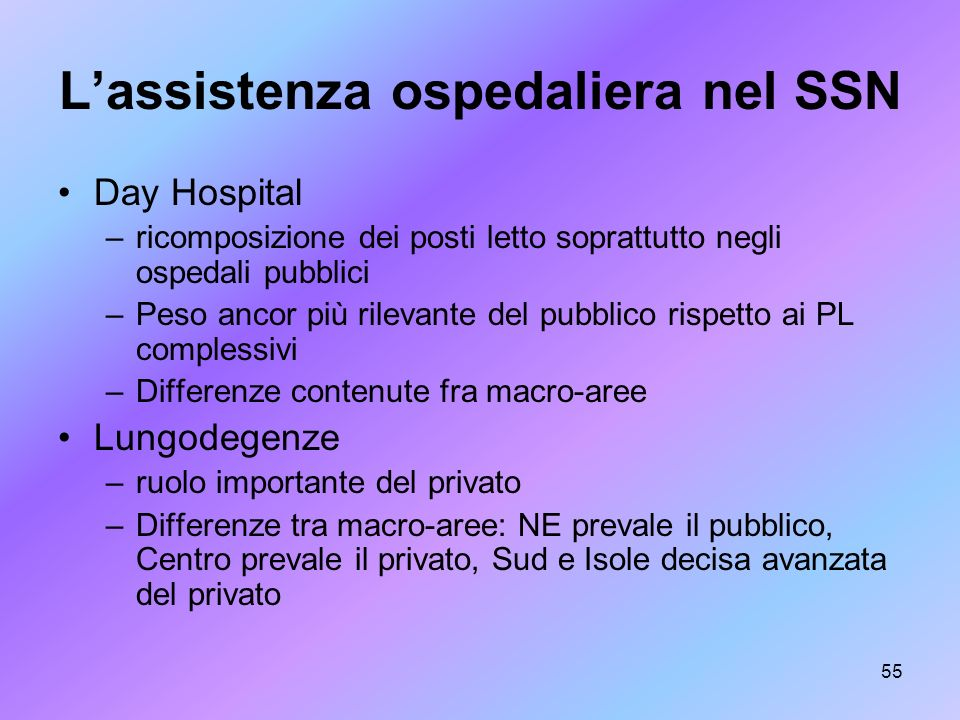 L'assistenza ospedaliera nel SSN