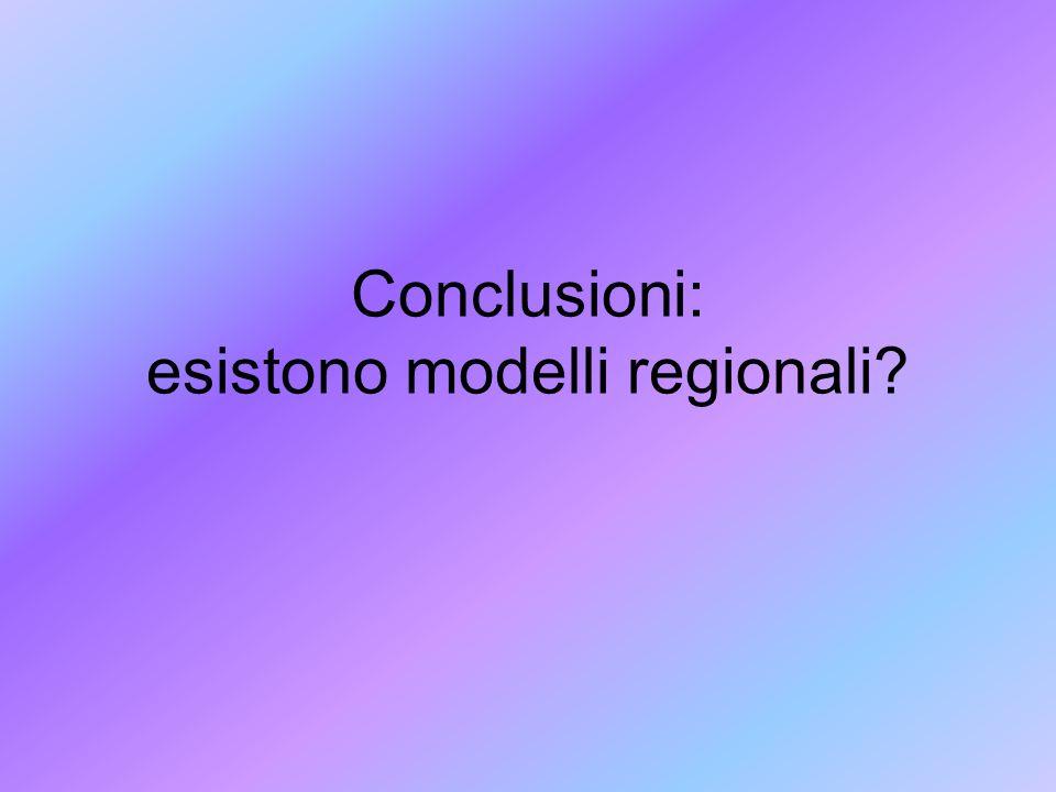 Conclusioni: esistono modelli regionali