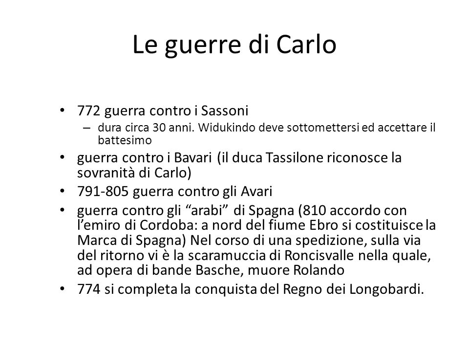 Le guerre di Carlo 772 guerra contro i Sassoni