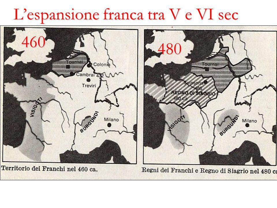 L'espansione franca tra V e VI sec