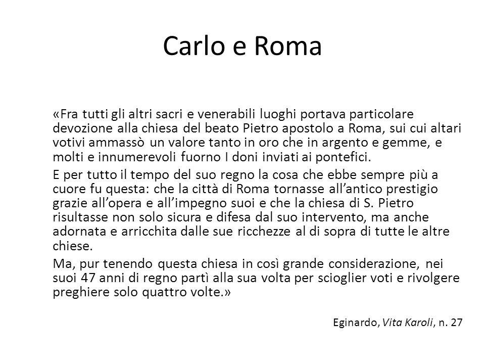 Carlo e Roma