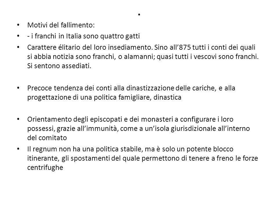 . Motivi del fallimento: - i franchi in Italia sono quattro gatti