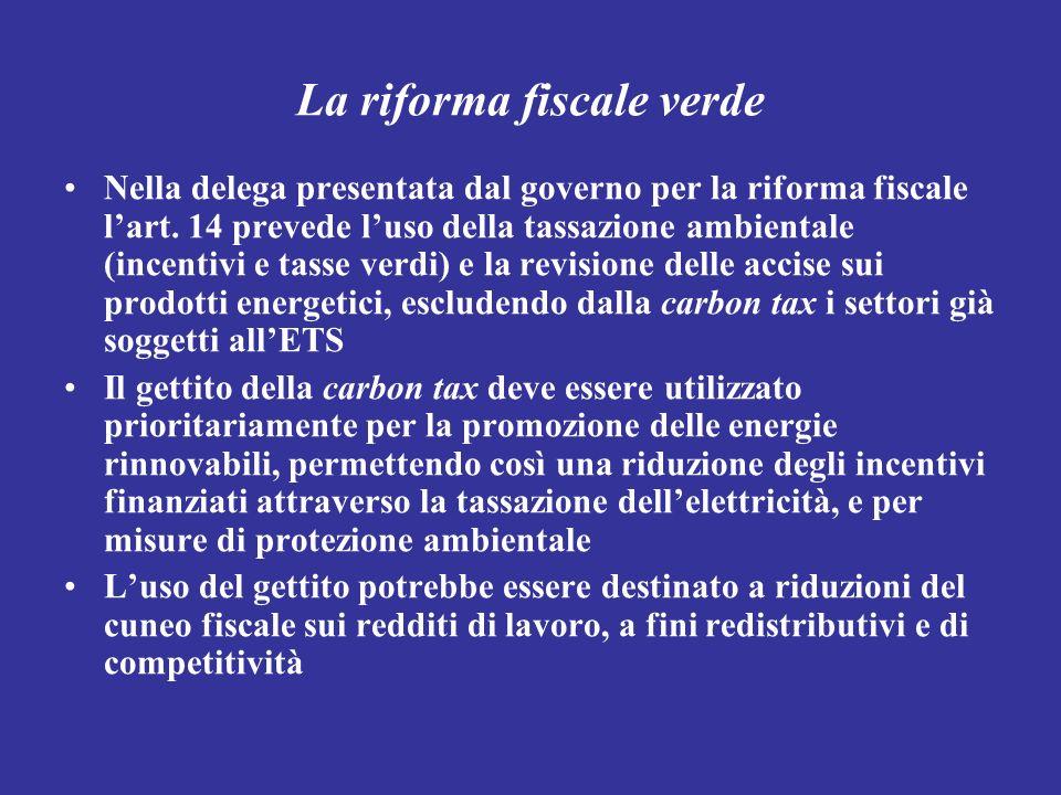 La riforma fiscale verde