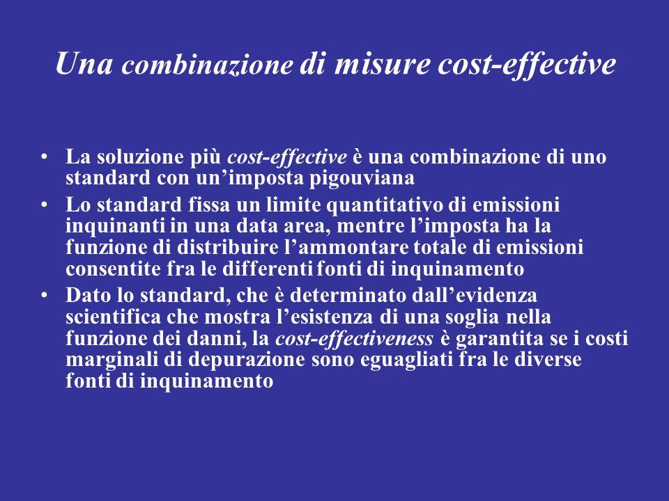 Una combinazione di misure cost-effective