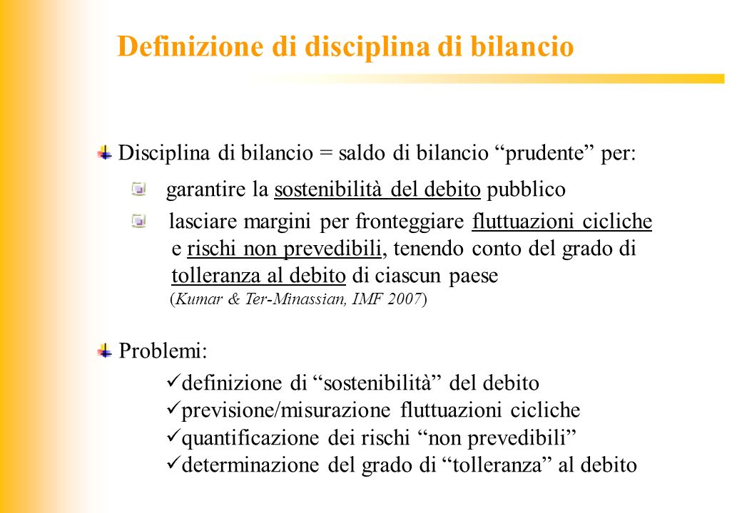Definizione di disciplina di bilancio