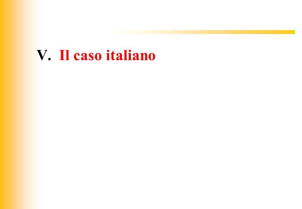 V. Il caso italiano