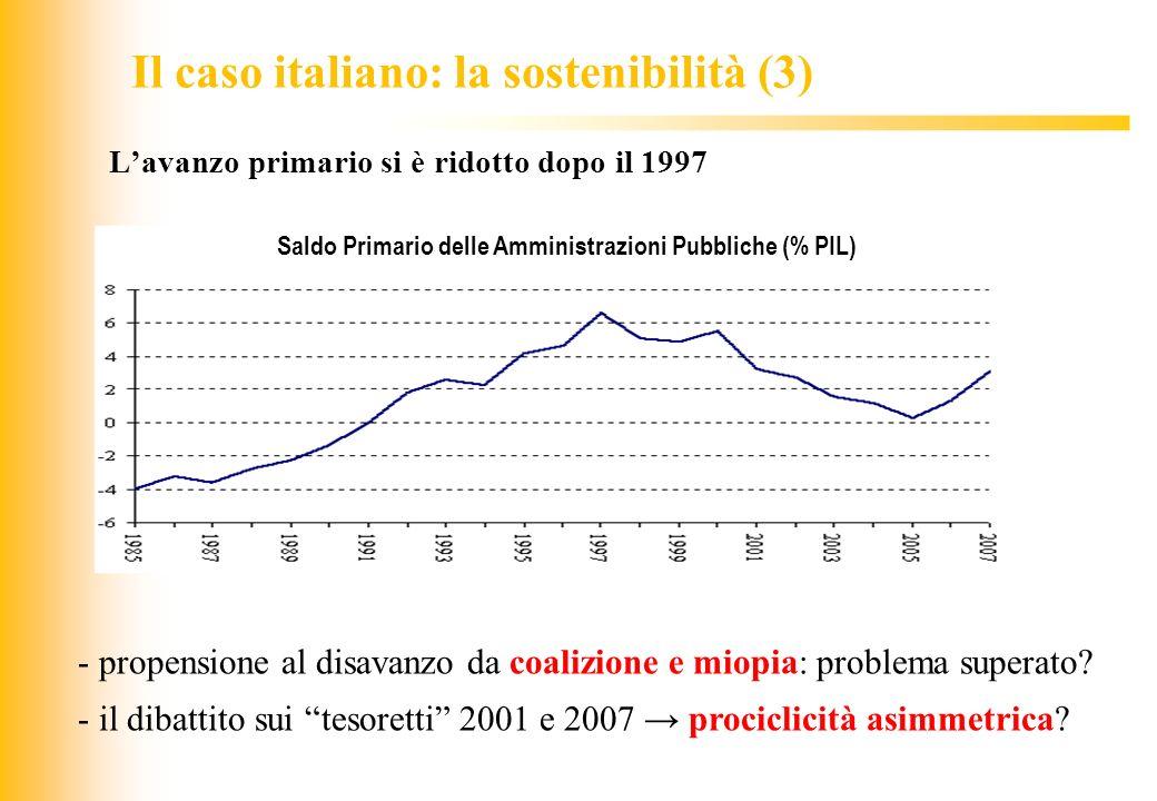 Il caso italiano: la sostenibilità (3)