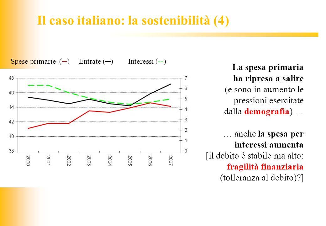 Il caso italiano: la sostenibilità (4)