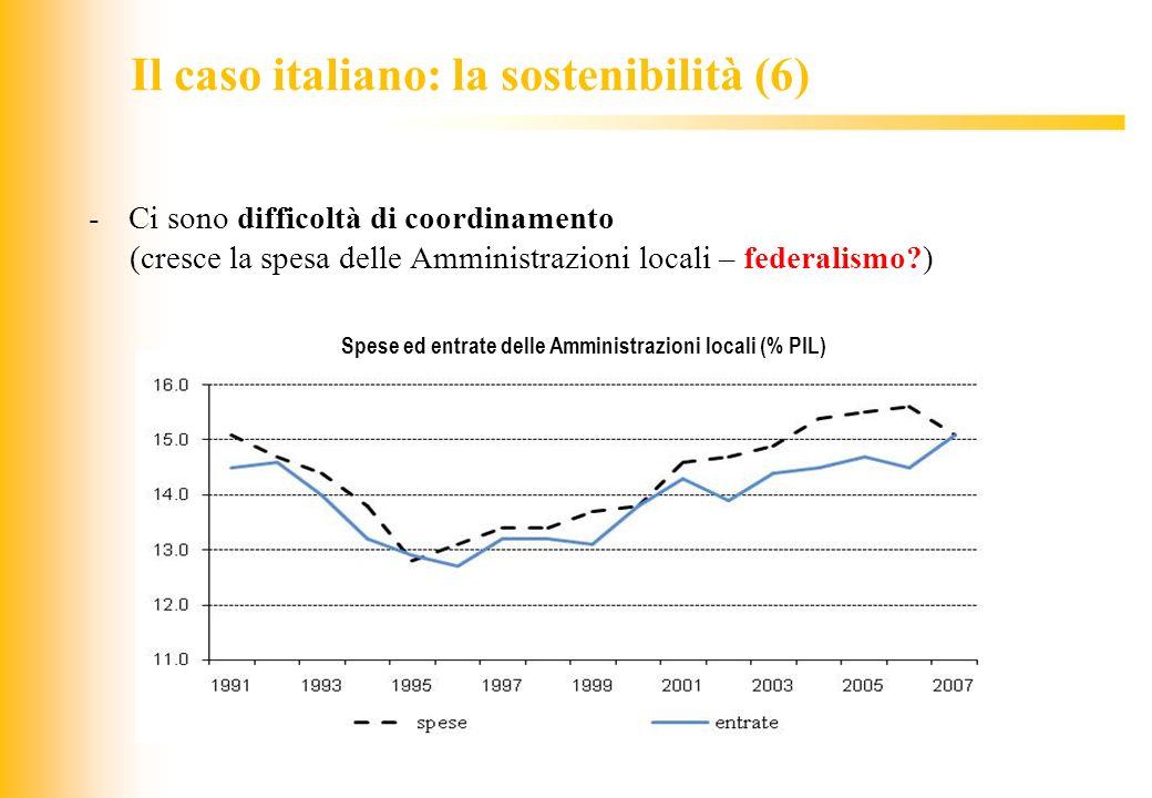 Il caso italiano: la sostenibilità (6)