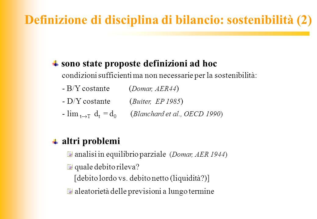 Definizione di disciplina di bilancio: sostenibilità (2)