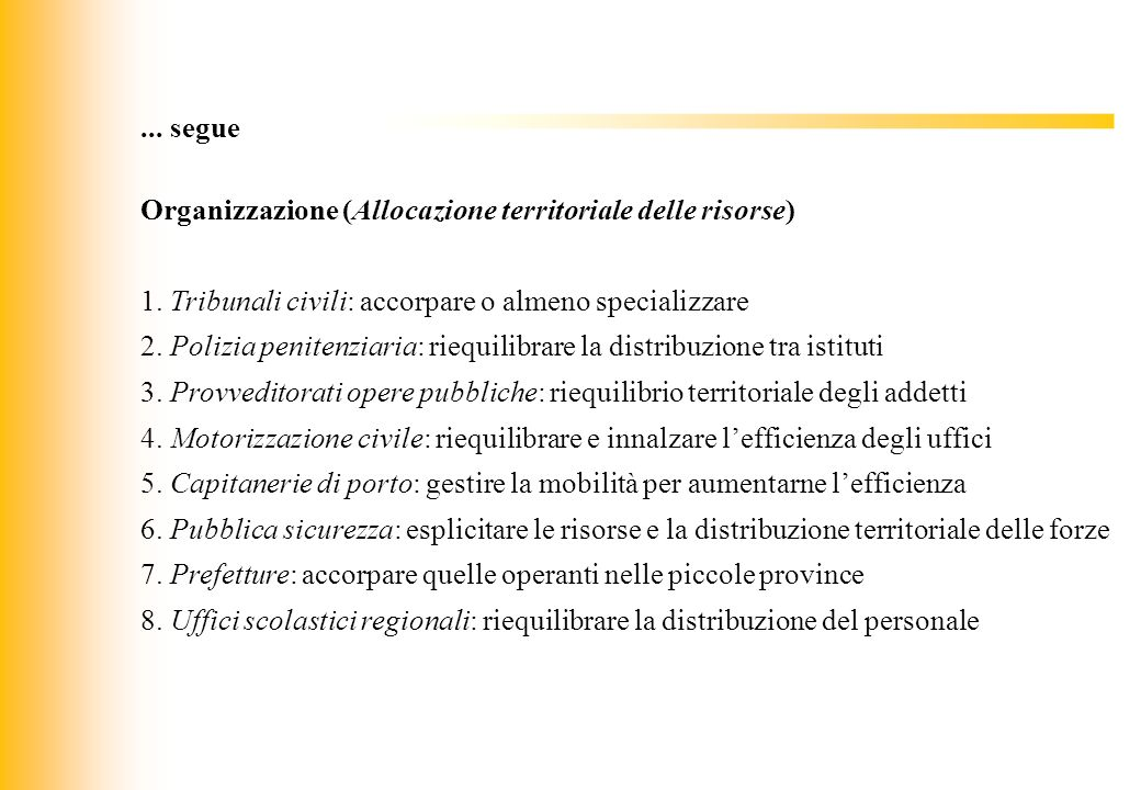 Organizzazione (Allocazione territoriale delle risorse)