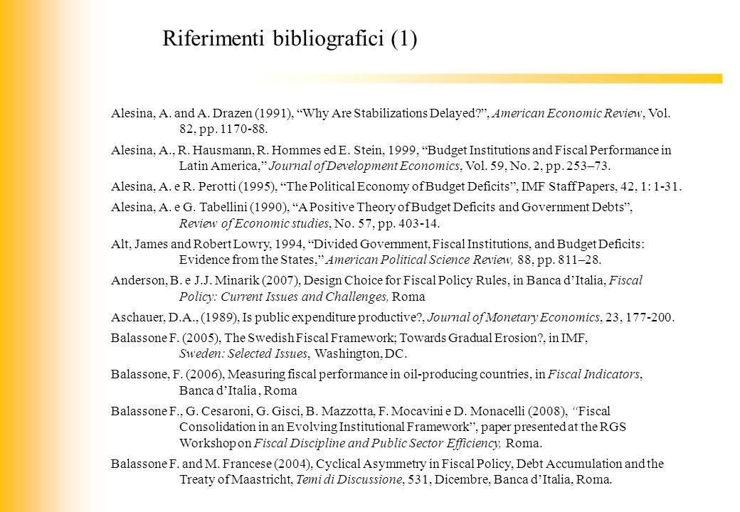 Riferimenti bibliografici (1)