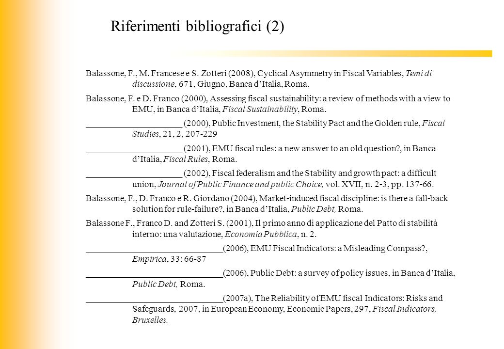 Riferimenti bibliografici (2)