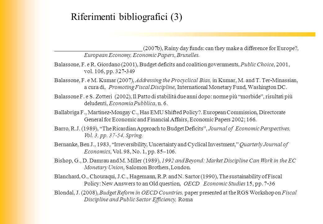 Riferimenti bibliografici (3)