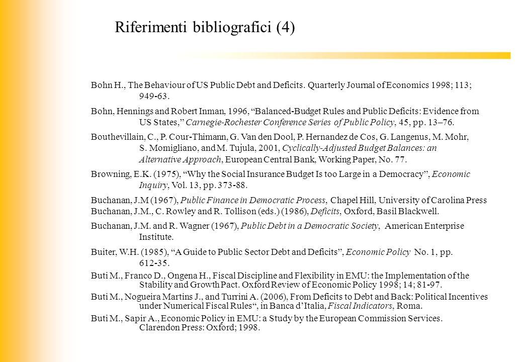 Riferimenti bibliografici (4)