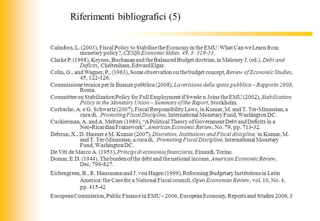 Riferimenti bibliografici (5)