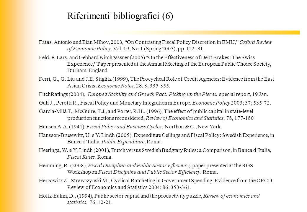 Riferimenti bibliografici (6)