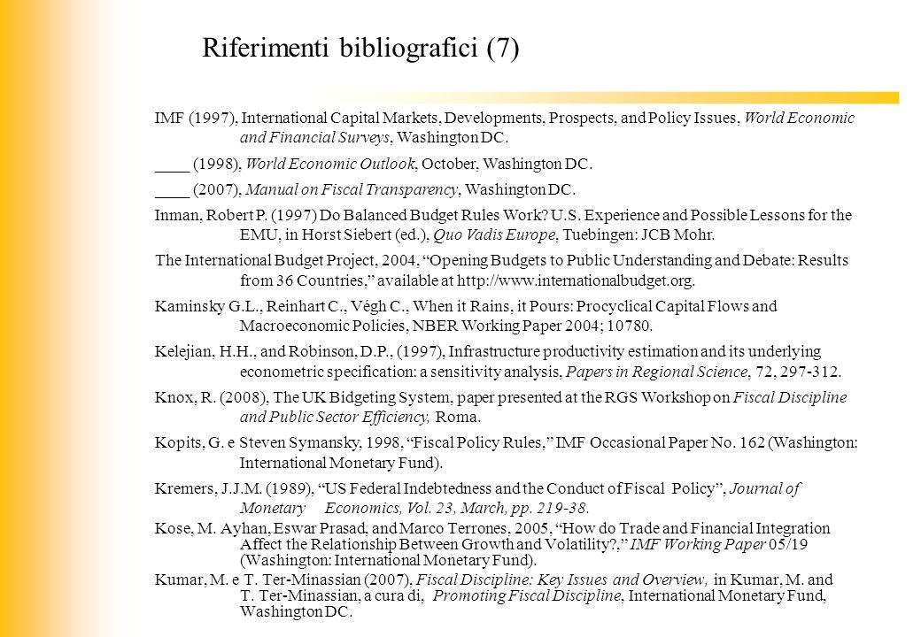 Riferimenti bibliografici (7)