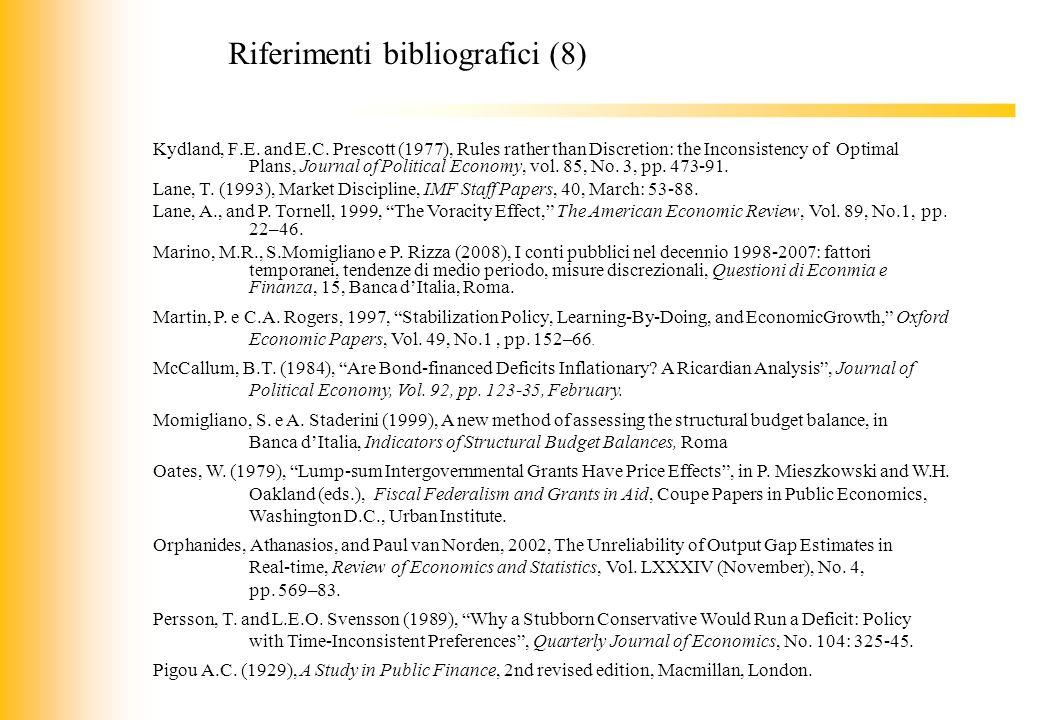 Riferimenti bibliografici (8)