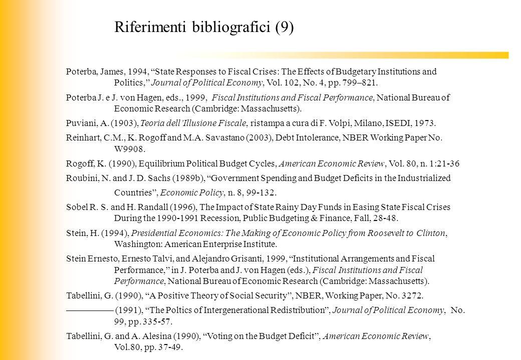 Riferimenti bibliografici (9)