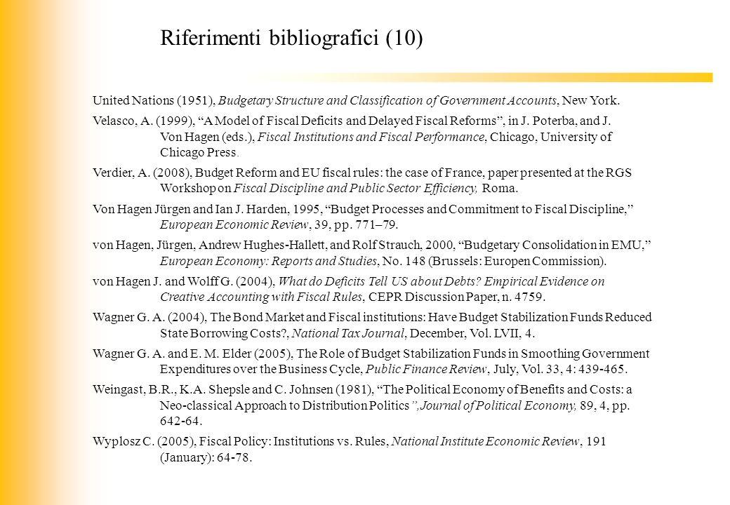 Riferimenti bibliografici (10)